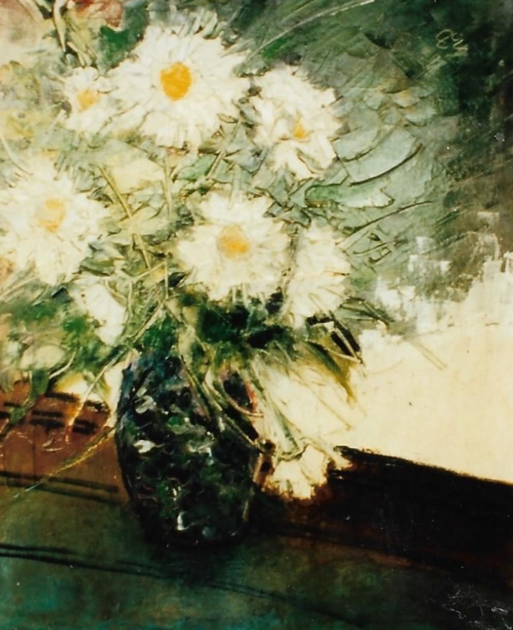 Mario Fanconi - crisantemi bianchi