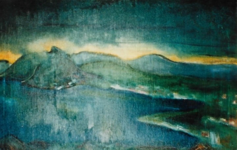 Mario Fanconi - Tramonto sul Lago di Lugano