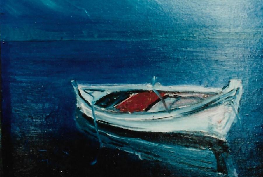Mario Fanconi - Barca  sul lago