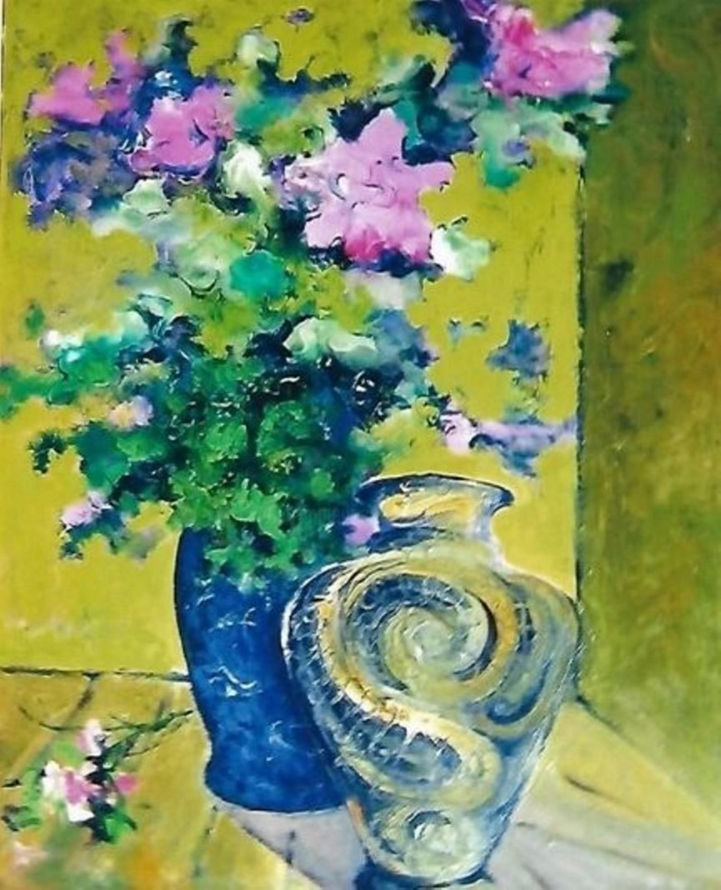 Mario Fanconi - Fiori rosa e vaso