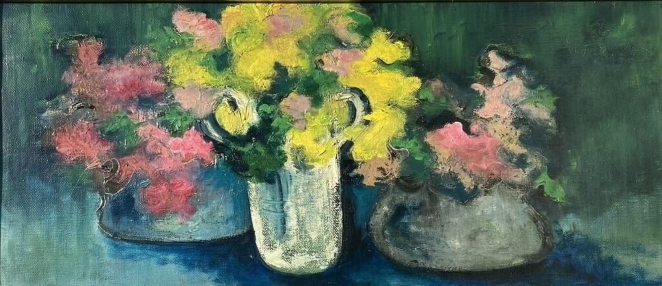 Mario Fanconi - vasi con fiori