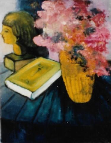 Vaso di fiori, libro volto in terracotta